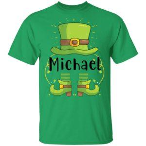Michael, St Patrick's Day Shirt Raglan Hoodie