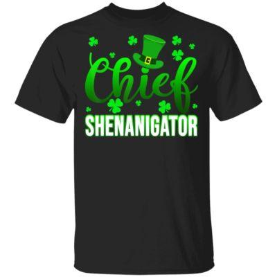 Chief Shenanigator Shamrock St Patrick's Day T-Shirt Long Sleeve Hoodie