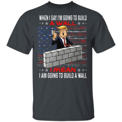 Build a Wall Voted for Trump 2020 Election T-Shirt Long Sleeve Hoodie