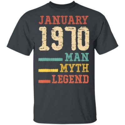 Vintage 50th birthday 1970 January Man Myth Legend T-Shirt