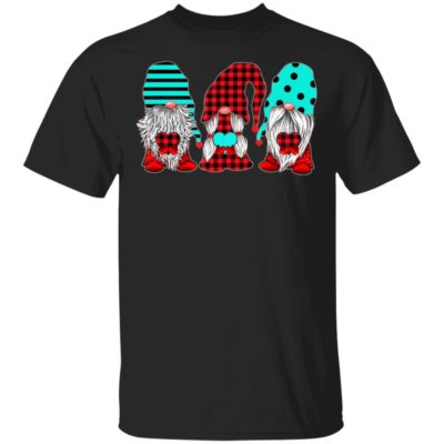 Three Gnomes Holding hearts Valentine's Day Shirt Long Sleeve Hoodie