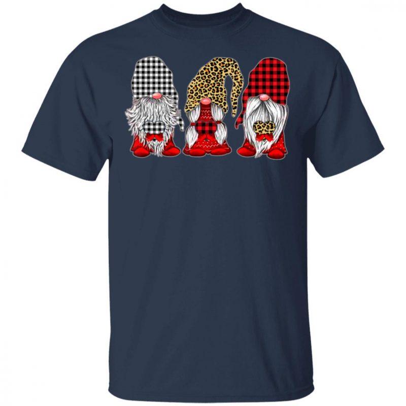 Three Gnomes Holding hearts leopard Valentine's Day Shirt