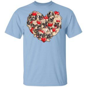 Pug Heart Valentine's Day Kids Dog Lover Shirt Long Sleeve Hoodie