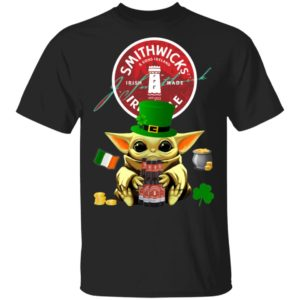 Baby Yoda Hug Smithwick's Irish Red Beer St Patrick's Day Shirt Raglan Hoodie