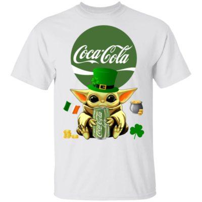 Baby Yoda Hug Coca Cola Green St Patrick's Day Shirt Raglan Hoodie