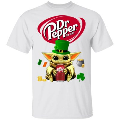 Baby Yoda Hug Dr Pepper St Patrick's Day T-Shirt Raglan Hoodie