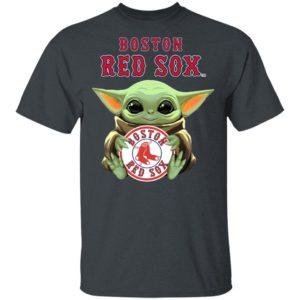 Baby Yoda Hug Boston Red Sox Star War Shirt