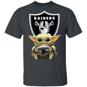 Baby Yoda Hug Oakland Raiders Star Wars Shirt Long Sleeve Hoodie