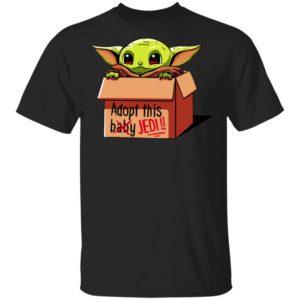 Baby Yoda Adopt This Baby Jedi Shirt Long Sleeve Hoodie