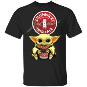 Baby Yoda Hug Smithwick's Irish Red Beer Shirt Long Sleeve Hoodie
