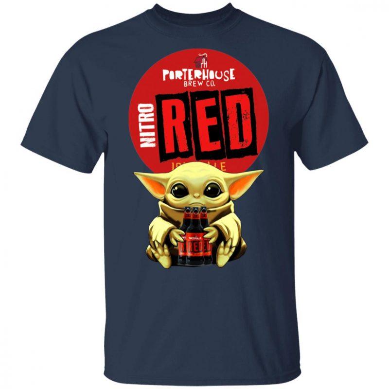 Baby Yoda Hug Porterhouse Red Irish Ale Beer Shirt Long Sleeve Hoodie