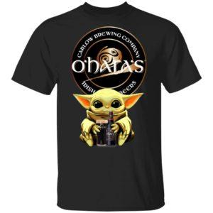 Baby Yoda Hug O'Hara's Irish Stout Beer Shirt Long Sleeve Hoodie