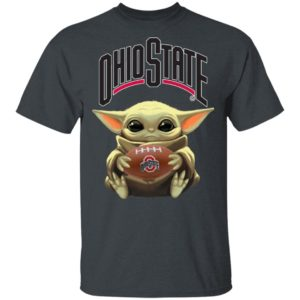 Baby Yoda Hug Ohio State Buckeyes Star Wars Shirt Long Sleeve Hoodie