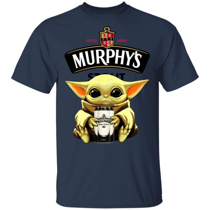 Baby Yoda Hug Murphy's Irish Stout Beer Shirt Long Sleeve Hoodie