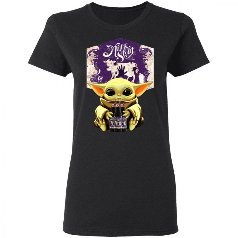 Baby Yoda Hug Left Hand Milk Stout Beer Shirt Long Sleeve Hoodie