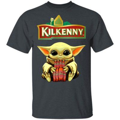 Baby Yoda Hug Kilkenny Cream Ale Beer Shirt Long Sleeve Hoodie