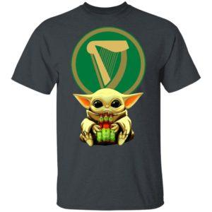 Baby Yoda Hug Harp Lager Beer Shirt Long Sleeve Hoodie