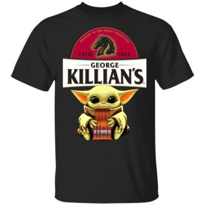 Baby Yoda Hug George Killian's Irish Red Beer Shirt Long Sleeve Hoodie
