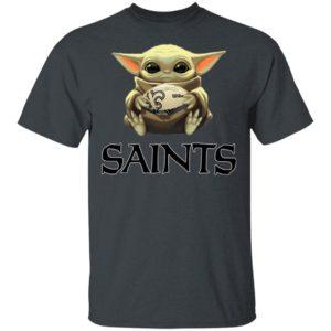 Baby Yoda Hug New Orleans Saints Star War Shirt Hoodie Long Sleeve