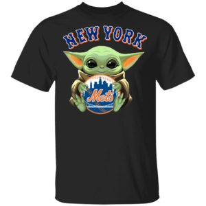 Baby Yoda Hug New York Mets Star Wars Shirt Long Sleeve Hoodie
