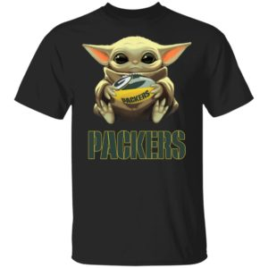 Baby Yoda Hug Green Bay Packer Shirt Long Sleeve Hoodie