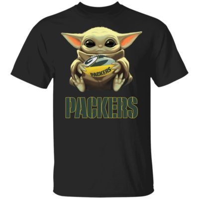 Baby Yoda Hug Green Bay Packer Shirt Long Sleeve Hoodie