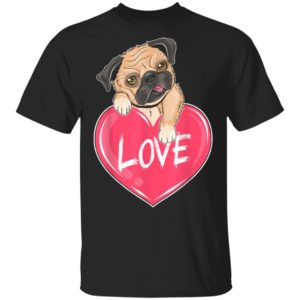 Cute Pug Love Valentines Day T-Shirt Long Sleeve Hoodie