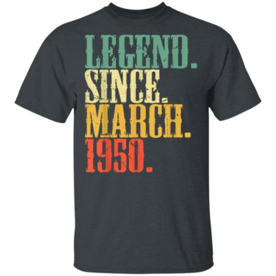 70 Years Old - Legend Since March 1950 Vintage T-Shirt Long Sleeve Hoodie