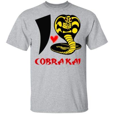 I Love Cobra Kai Shirt Long Sleeve Hoodie