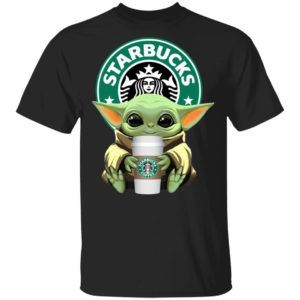 Baby Yoda Drink Starbucks Star Wars Shirt Long Sleeve Hoodie