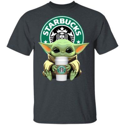 Baby Yoda Drink Starbucks Star Wars Shirt Long Sleeve Hoodie