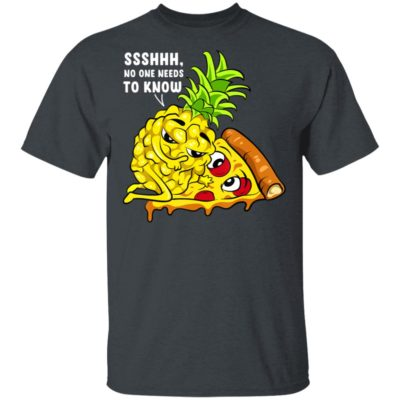 Pineapple Pizza Valentine Day Couple Secret Lover Shh T-Shirt