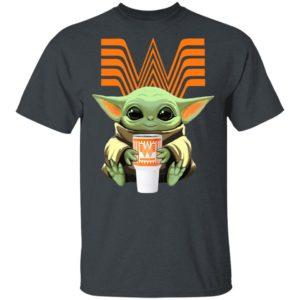 Baby Yoda Drink Whataburger Star Wars Shirt Long Sleeve Hoodie