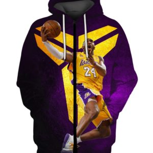 Kobe Bryant Purple Gold 3D Print Shirt Long Sleeve Hoodie