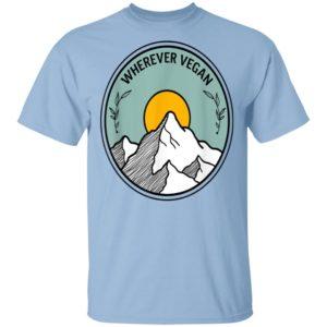 Wherever Vegan Travel Shirt Long Sleeve Hoodie