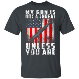 My Gun Is Not A Threat Unless You Are Funny 2nd Amendment Shirt