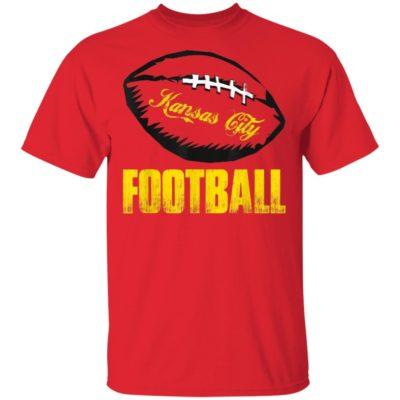 Kansas City Football Grunge T-Shirt Long Sleeve Hoodie