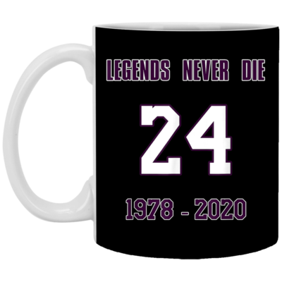 Legends Never Die 24 1987-2020 RIP-KOBE Memorial Mug, Necklace