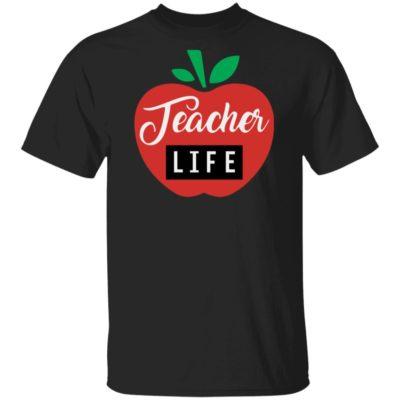 Teacher Pencil Shirt Teacher Life Apple Shirt Long Sleeve Hoodie