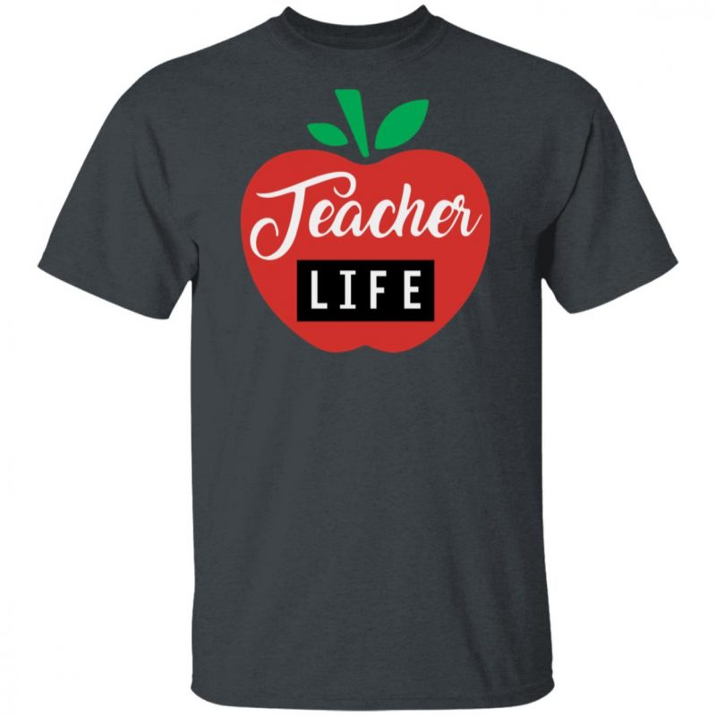 Teacher Pencil Shirt Teacher Life Apple Shirt Long Sleeve Hoodie