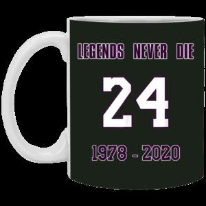 Legends Never Die 24 1987-2020 RIP-KOBE Memorial Mug, Necklace