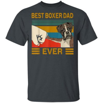 Best Dog Boxer Dad Ever Bump Shirt Long Sleeve Hoodie
