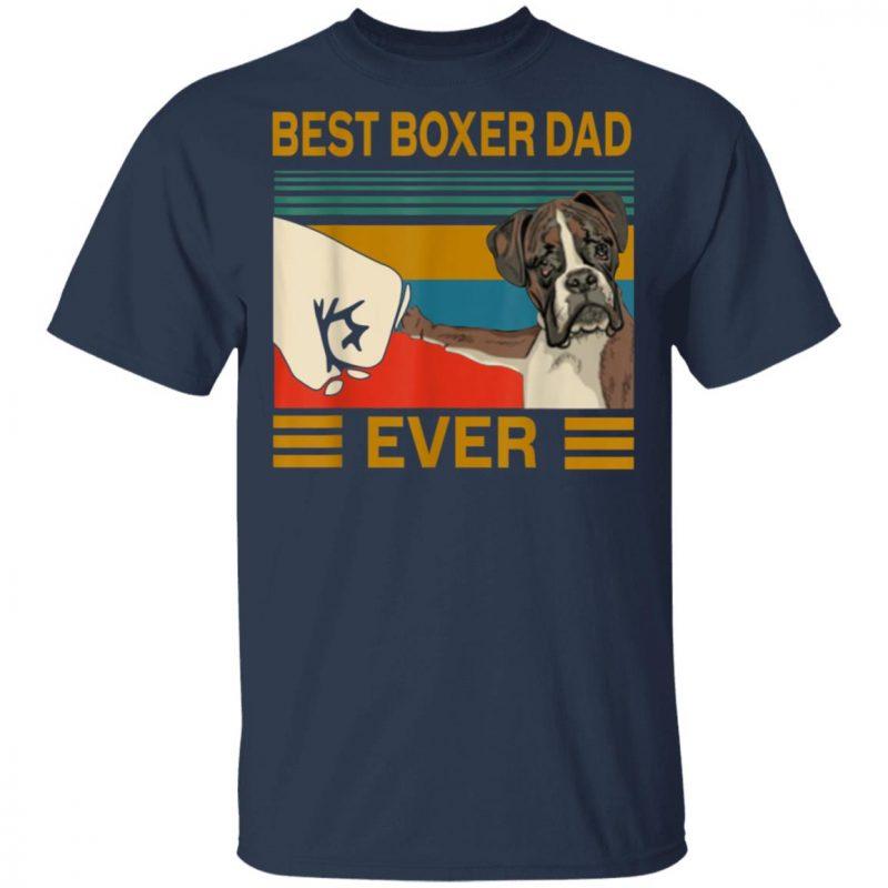 Best Dog Boxer Dad Ever Bump Shirt Long Sleeve Hoodie