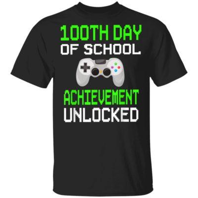100th Day of School Achievement Unlocked Video Game Shirt