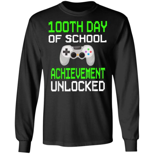 100th Day of School Achievement Unlocked Video Game Shirt