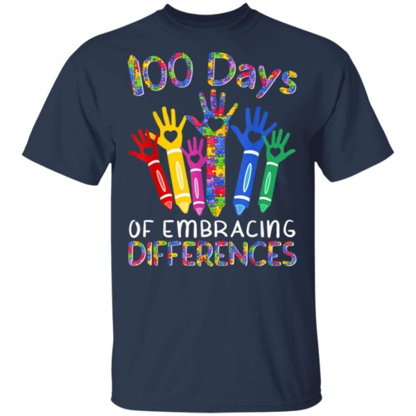 100 Days Of Embracing Differences IEP 100th Day Of School T-Shirt