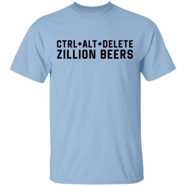 Delete Zillion Beers Shirt Long Sleeve Hoodie