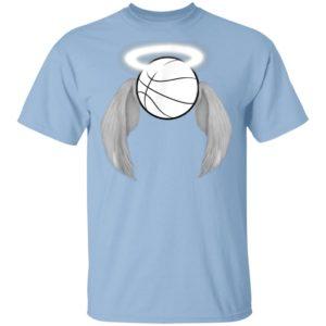 Basketball Heaven Angel wings halo ring Memorial Shirt Long Sleeve Hoodie