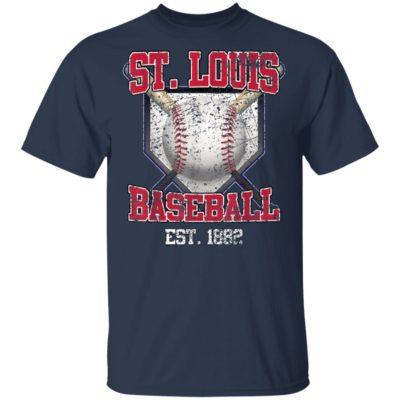Vintage St. Louis Baseball Est 1882 Shirt Long Sleeve Hoodie