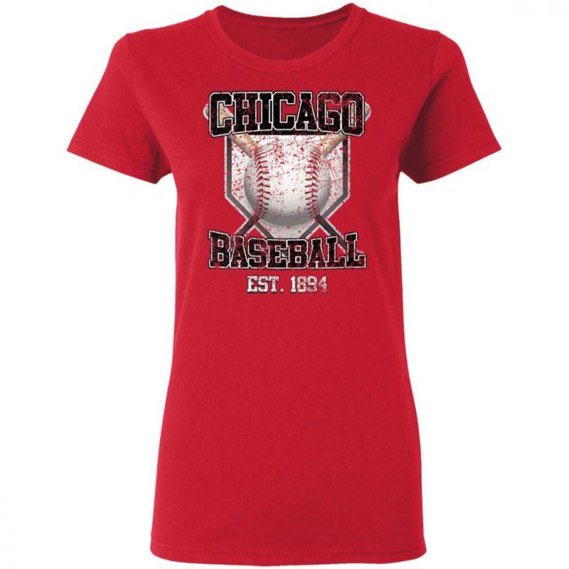 Vintage Chicago Baseball Est 1894 Shirt Long Sleeve Hoodie